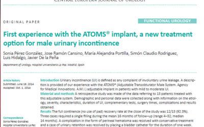El Hospital Universitario La Paz de Madrid publica sus resultados sobre el dispositivo ajustable de incontinencia urinaria masculina ATOMS